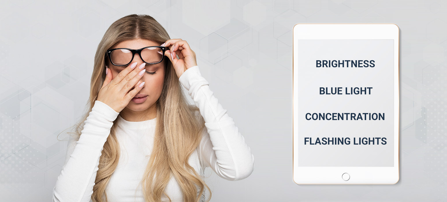 causes of tired eyes
